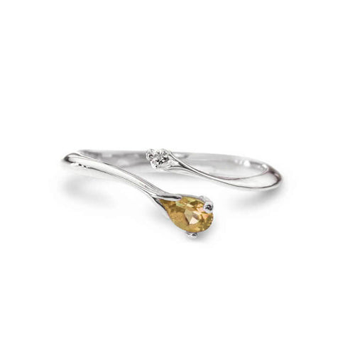 Silver Pear Ring ,[product vendor],JewelStreet