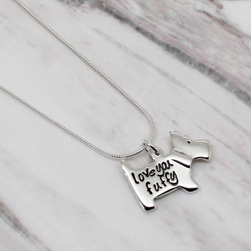 Personalised Scottie Dog Necklce-Hilary&June-JewelStreet EU
