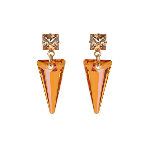 Yellow Gold Plated Shard Magma Earrings ,[product vendor],JewelStreet