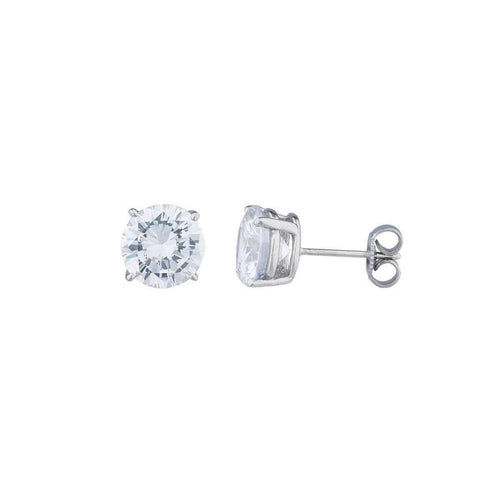 14kt White Gold 2.5ct Round Stud Earrings ,[product vendor],JewelStreet