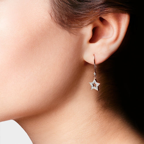 Rose Gold & Diamond Starry Earrings | Kaizarin ,[product vendor],JewelStreet