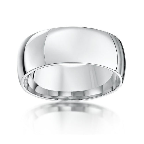 9kt White Gold Court-Shape Wedding Ring ,[product vendor],JewelStreet