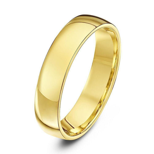 9kt Yellow Gold Court Shape Wedding Ring ,[product vendor],JewelStreet