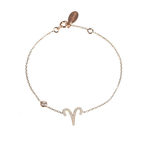 Aries Zodiac Bracelet Rose Gold ,[product vendor],JewelStreet