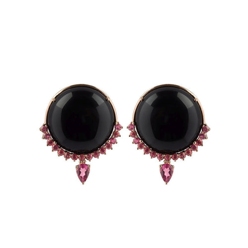 Contrasting Round Earrings ,[product vendor],JewelStreet