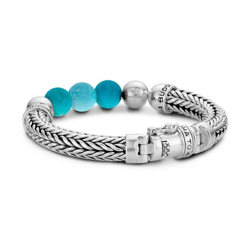 Ellen Beads Bracelet Turquoise by Buddha To Buddha ,[product vendor],JewelStreet