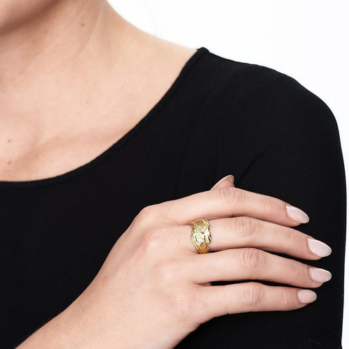 Gold Bark Ring ,[product vendor],JewelStreet