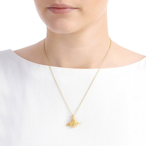 Gold Bumble Bee Necklace ,[product vendor],JewelStreet