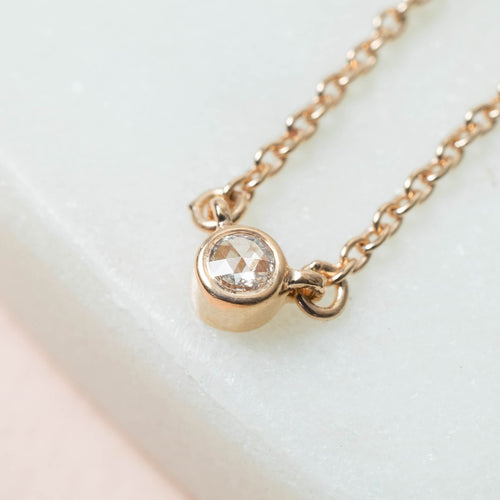 Lone Star Diamond Necklace Rose Gold ,[product vendor],JewelStreet