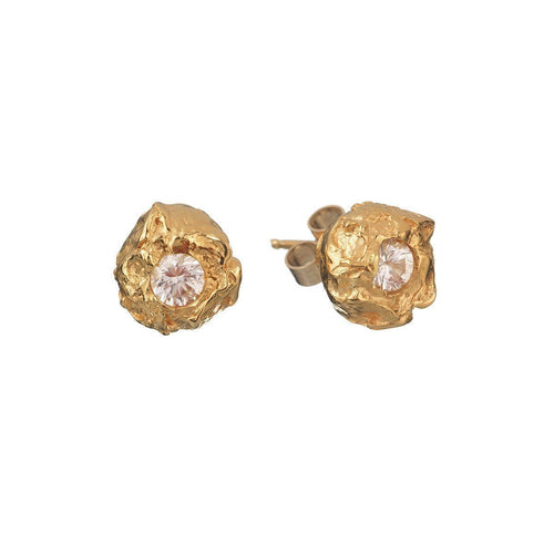 Lula White Sapphire Stud Earrings ,[product vendor],JewelStreet