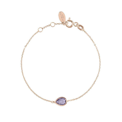 Pisa Mini Teardrop Bracelet Rose Gold Amethyst ,[product vendor],JewelStreet