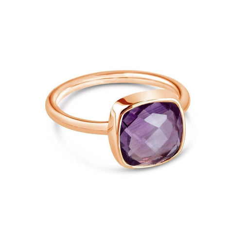 Purple Amethyst Cocktail Ring in Rose Gold ,[product vendor],JewelStreet