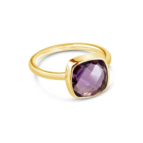 Purple Amethyst Cocktail Ring in Yellow Gold ,[product vendor],JewelStreet