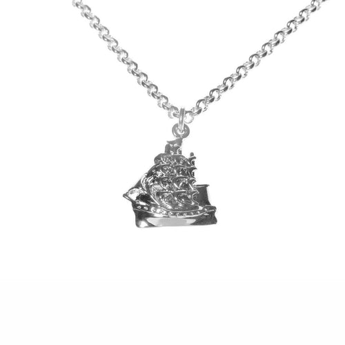 Silver Clipper ship Necklace ,[product vendor],JewelStreet