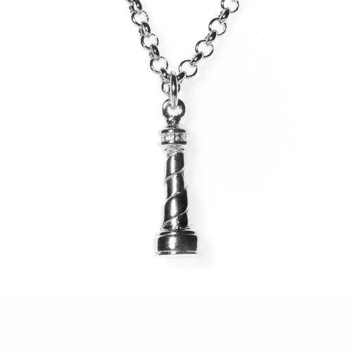 Silver Lighthouse Necklace ,[product vendor],JewelStreet