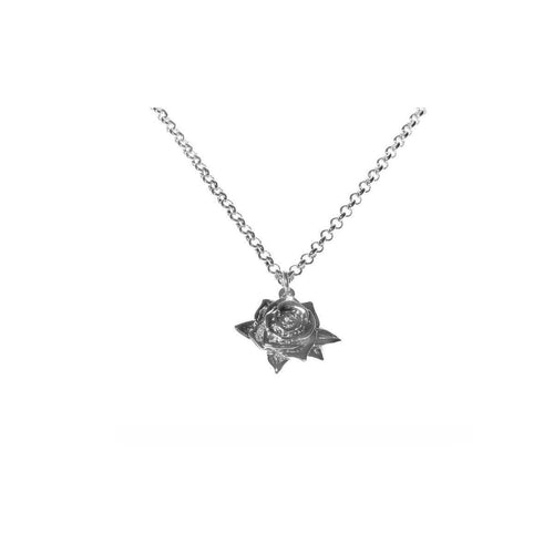 Silver Rose Necklace ,[product vendor],JewelStreet