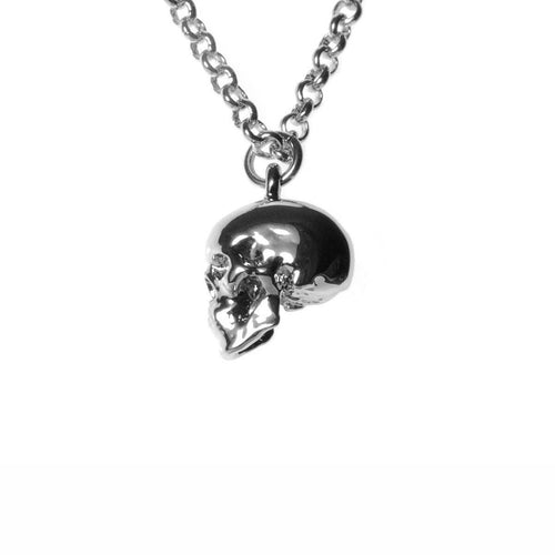 Silver Skull Necklace ,[product vendor],JewelStreet