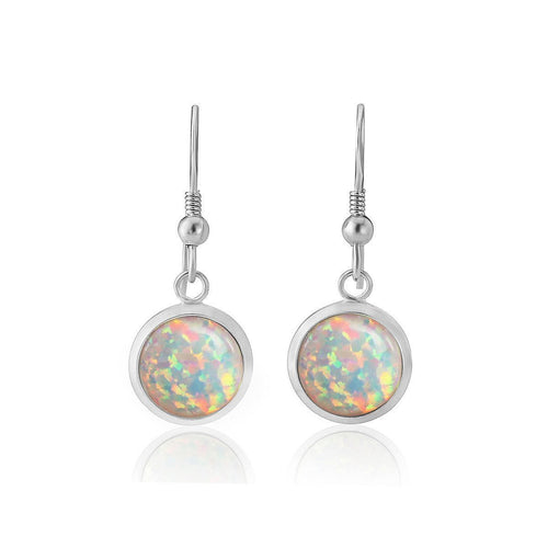 5fff04307dea7 Sterling Silver & White Opal Drop Earrings