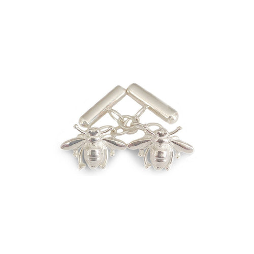 Sterling Silver Bee Chain Link Cufflinks ,[product vendor],JewelStreet