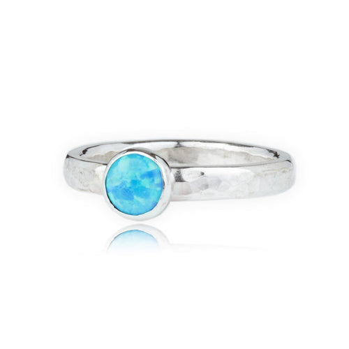 Sterling Silver Opal Ring ,[product vendor],JewelStreet