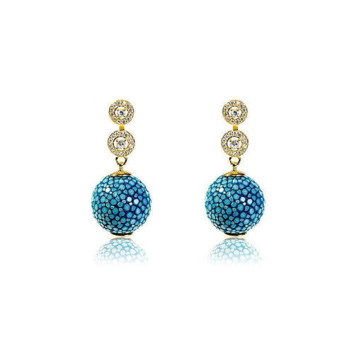 Stingray Ball Earring Ocean ,[product vendor],JewelStreet