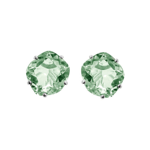 Talya Sterling Silver Green Amethyst Studs ,[product vendor],JewelStreet