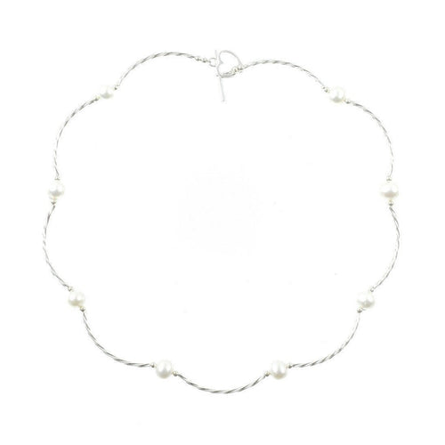 Twist Ivory Pearl Necklace ,[product vendor],JewelStreet