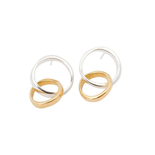 Unity Double Circles Earrings ,[product vendor],JewelStreet