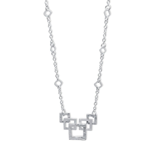 Verity Square Link Necklace ,[product vendor],JewelStreet