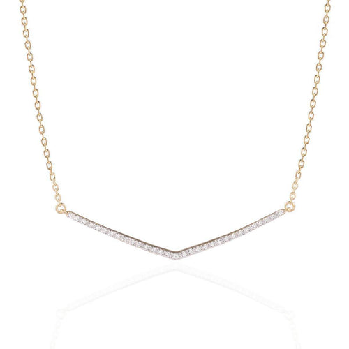 Wishbone Diamond Necklace ,[product vendor],JewelStreet