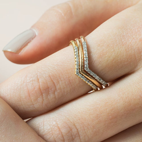 Wishbone Diamond Ring Gold ,[product vendor],JewelStreet