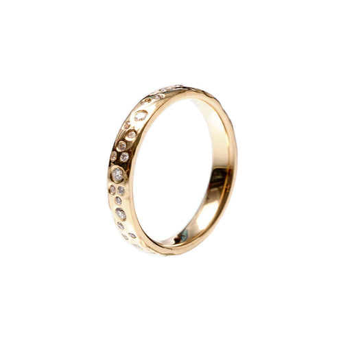 18kt Yellow Gold White Water Ring ,[product vendor],JewelStreet