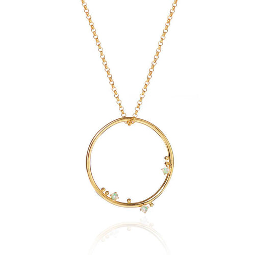 18kt Yellow Gold Vermeil 3 Wishes Moonstone Pendant ,[product vendor],JewelStreet