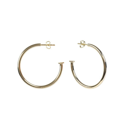 Rose Gold Plated Silver Nailed It Hoop Earrings ,[product vendor],JewelStreet