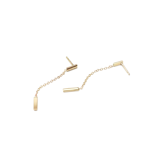 9kt Yellow Gold Barre Earrings ,[product vendor],JewelStreet