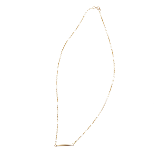 9kt Gold Barre Necklace ,[product vendor],JewelStreet
