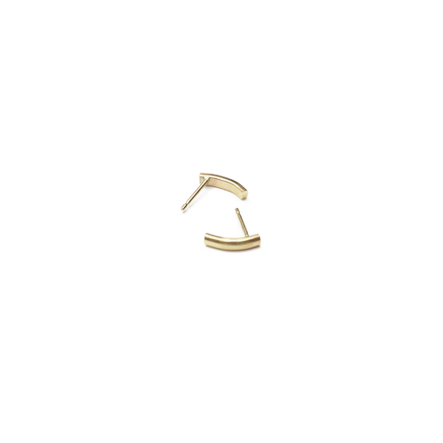 9kt Yellow Gold Curve Stud Earrings ,[product vendor],JewelStreet