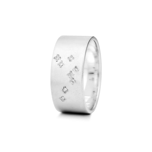 Sterling Silver Aquarius Zodiac Constellation Ring ,[product vendor],JewelStreet
