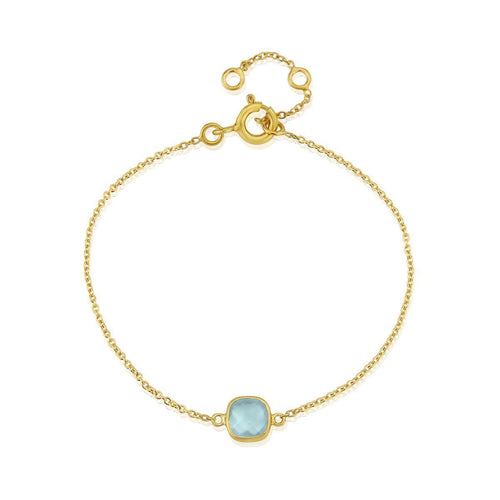 Yellow Gold Plated Brooklyn Blue Topaz Bracelet ,[product vendor],JewelStreet