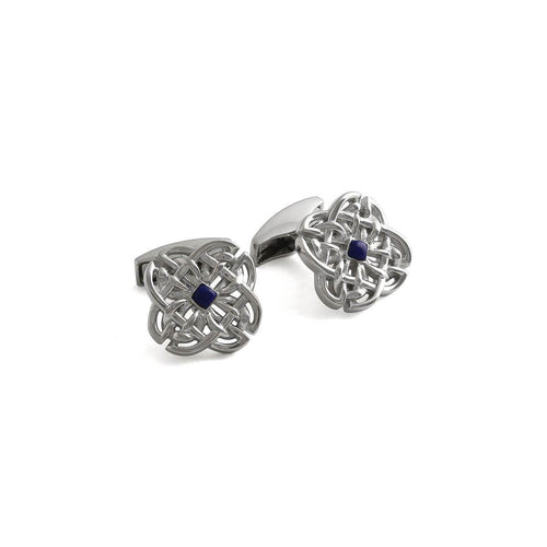 Sterling Silver & Lapis Celtic Stone Cufflinks ,[product vendor],JewelStreet