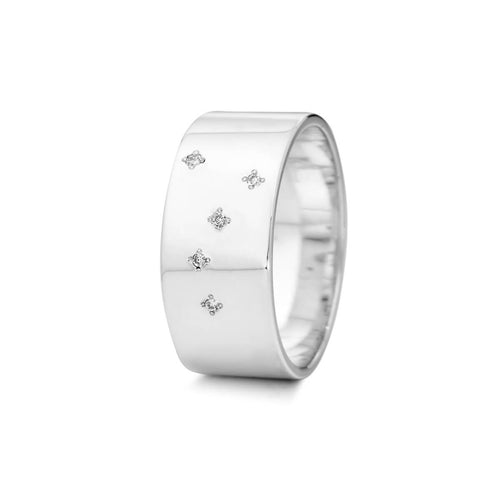 Sterling Silver Cancer Zodiac Constellation Ring ,[product vendor],JewelStreet