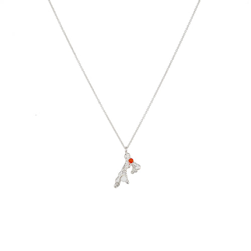 Sterling Silver Coral Necklace with Gemstones ,[product vendor],JewelStreet