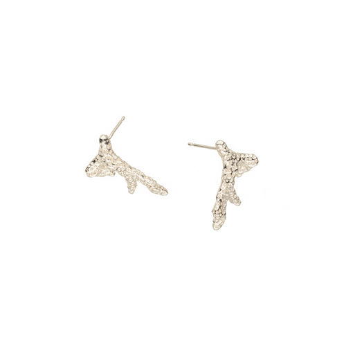 Sterling Silver Coral Studs ,[product vendor],JewelStreet