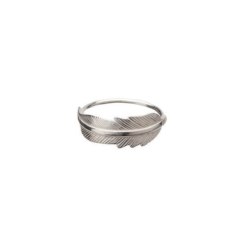 Sterling Silver Feather Ring ,[product vendor],JewelStreet