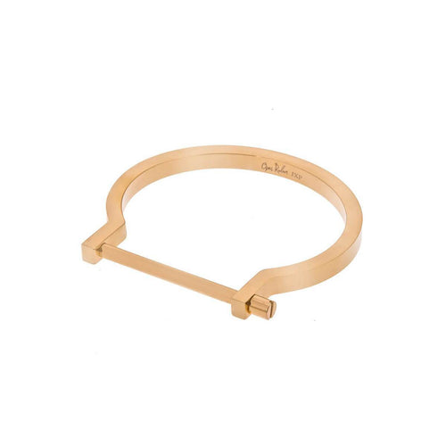 Gold Classic Screw Cuff Bracelet ,[product vendor],JewelStreet