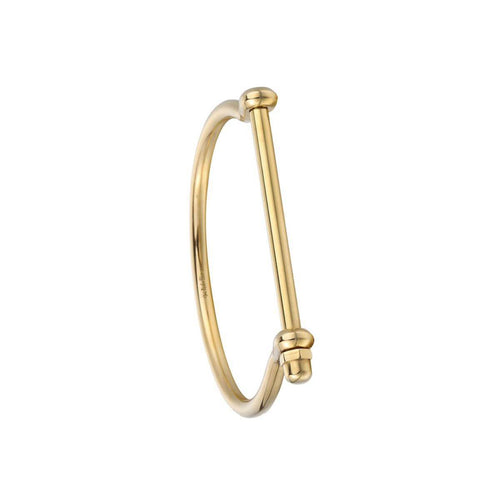 Gold Screw Cuff Bracelet ,[product vendor],JewelStreet