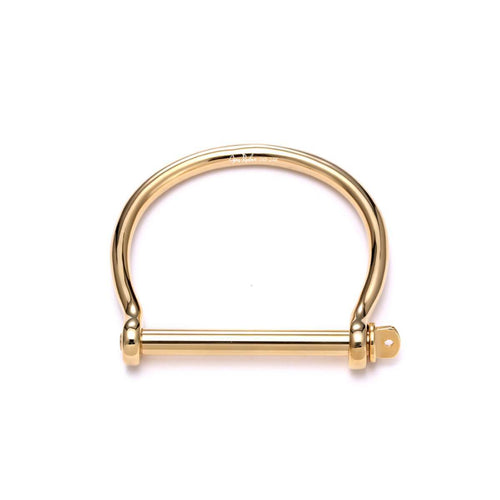 Gold XL Screw Cuff Bracelet ,[product vendor],JewelStreet