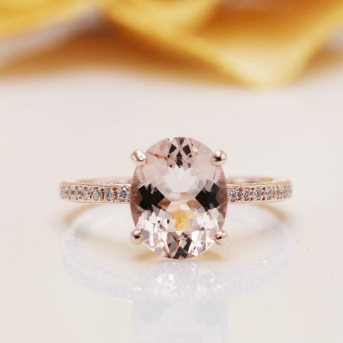 14kt Gold Two-Sided Natural Morganite Diamond Engagement Ring ,[product vendor],JewelStreet