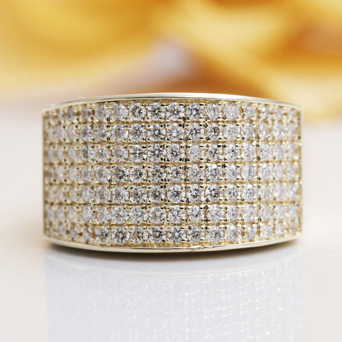 14kt Gold 7 Row Diamond Ring ,[product vendor],JewelStreet