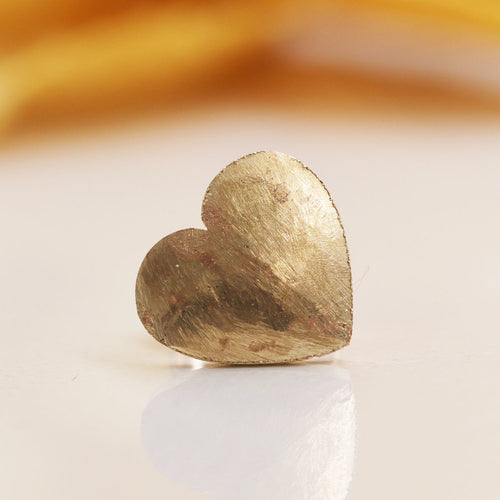 14kt Gold Heart Single Earring ,[product vendor],JewelStreet